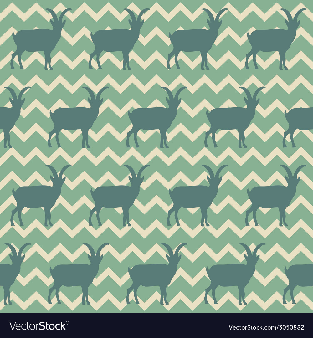 Seamless pattern with goats symbol of 2015 vector | Price: 1 Credit (USD $1)
