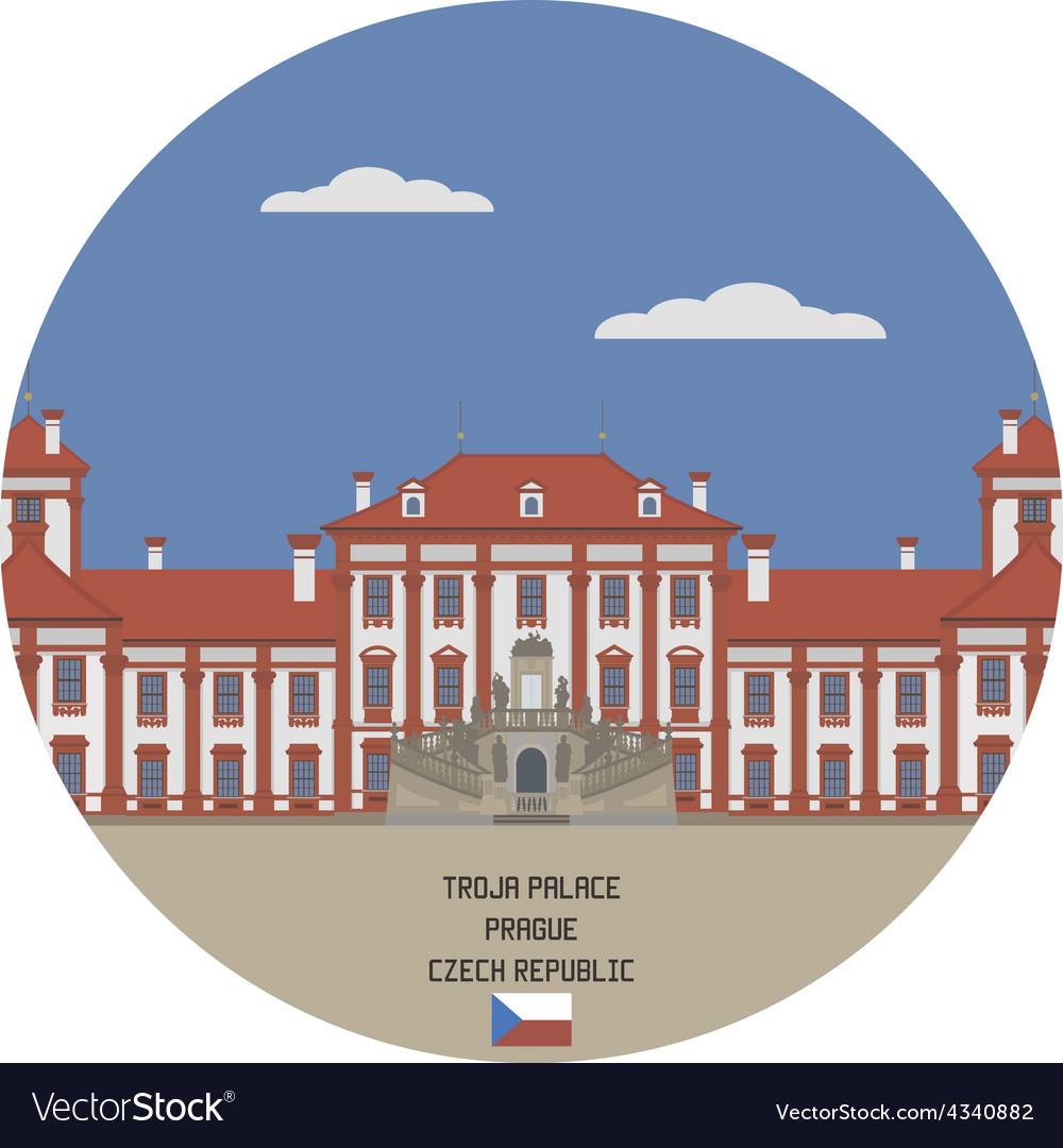 Troja palace prague vector | Price: 1 Credit (USD $1)