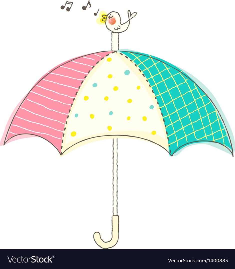 A view of umbrella vector | Price: 1 Credit (USD $1)
