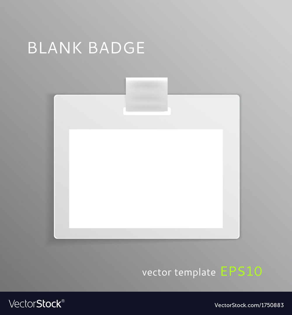 Blank badge vector | Price: 1 Credit (USD $1)