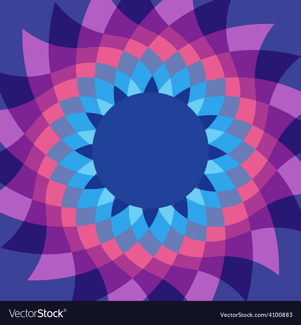 Caleidoscope flower vivid colors background vector | Price: 1 Credit (USD $1)