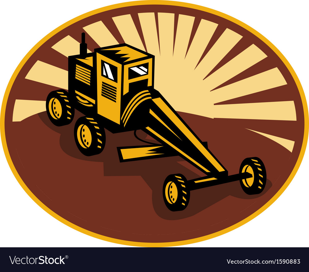 Construction road blade or motor grader vector | Price: 1 Credit (USD $1)