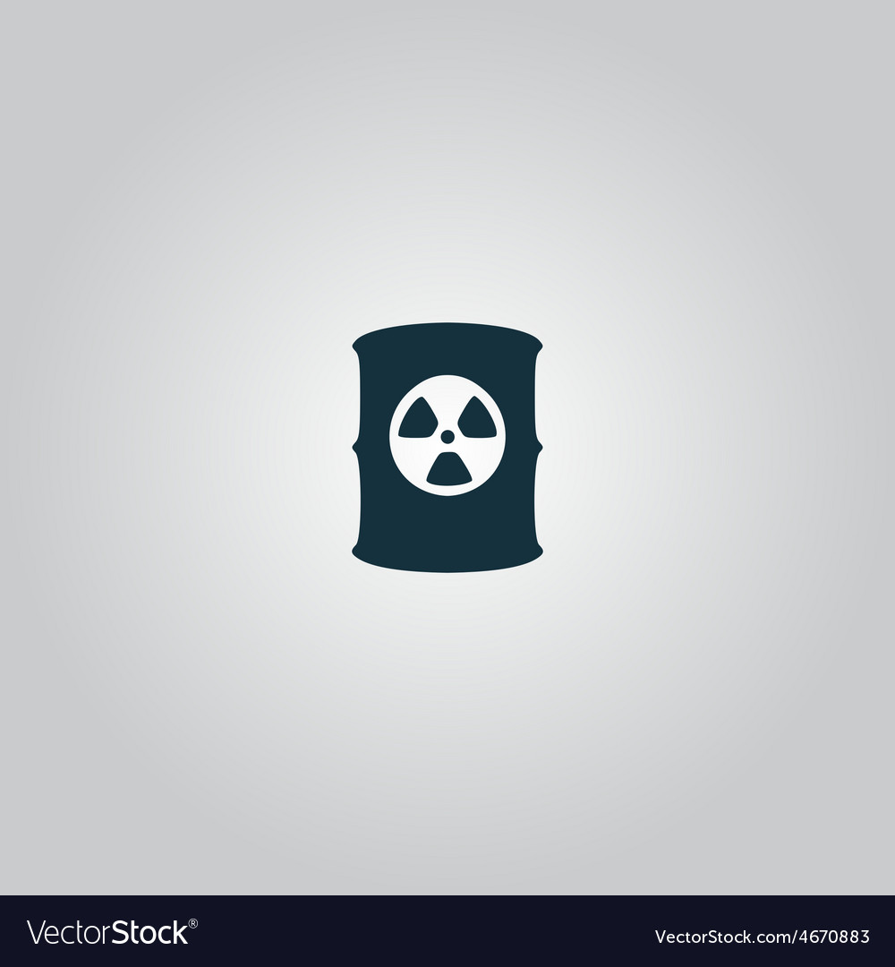 Container with radioactive waste icon vector | Price: 1 Credit (USD $1)