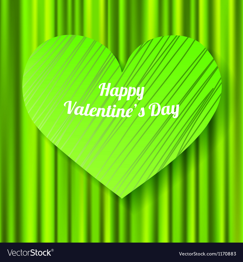 Green valentines day card vector | Price: 1 Credit (USD $1)