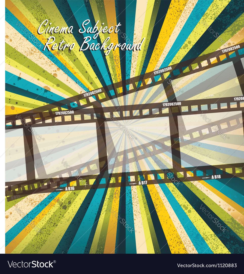 Old negative film strip vector | Price: 1 Credit (USD $1)