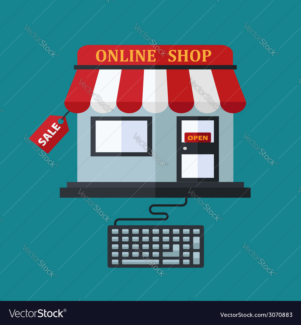 Online shop sale concept vector | Price: 1 Credit (USD $1)