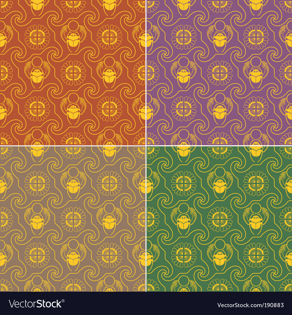 Seamless wallpaper egypt 2 gold vector | Price: 1 Credit (USD $1)