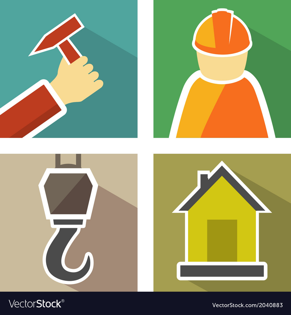 Set construction icons vector | Price: 1 Credit (USD $1)