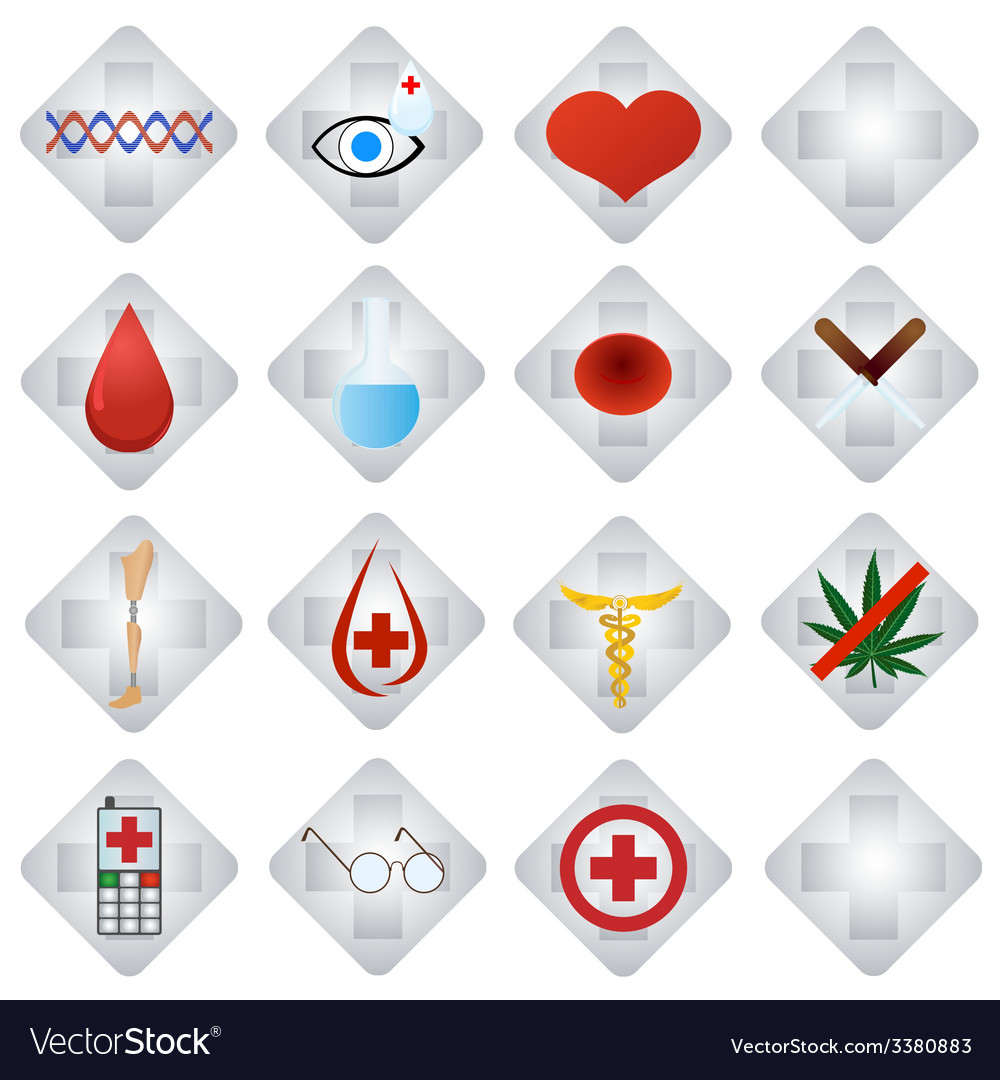 Set of medical icons-1 vector | Price: 1 Credit (USD $1)