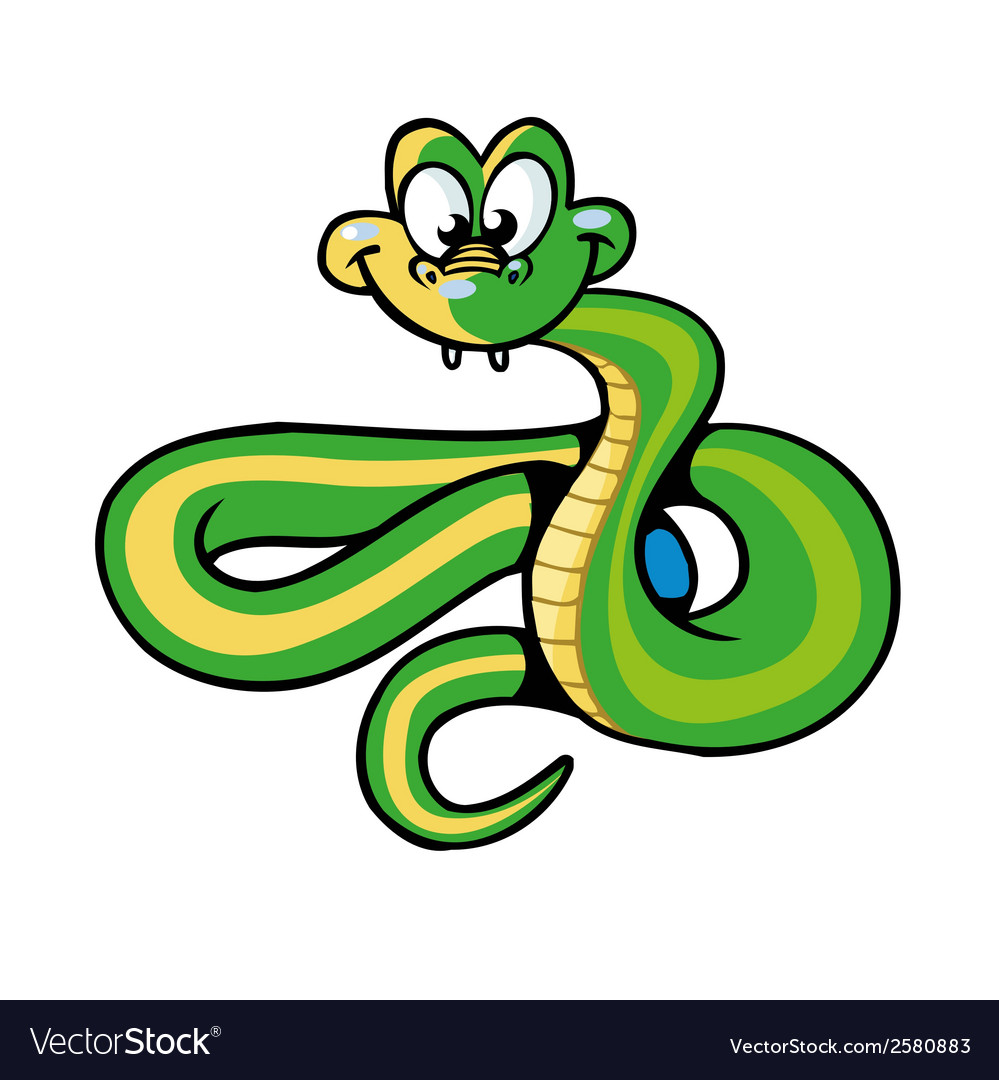 Snake cartoon vector | Price: 1 Credit (USD $1)