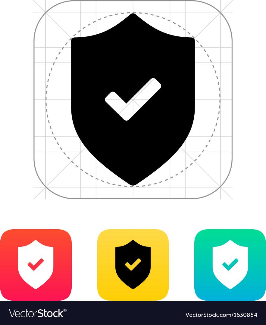 Accept shield icon vector | Price: 1 Credit (USD $1)