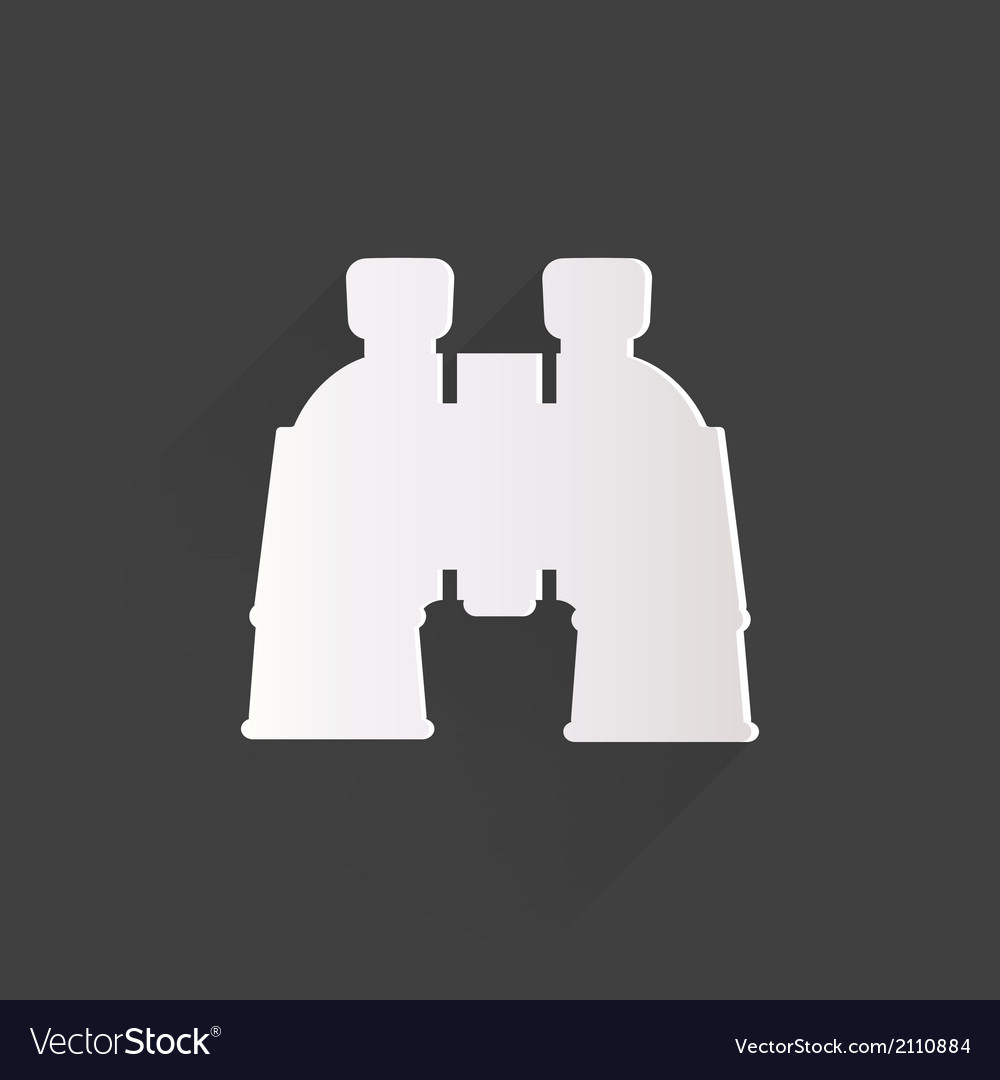 Binocular icon symbol vector | Price: 1 Credit (USD $1)