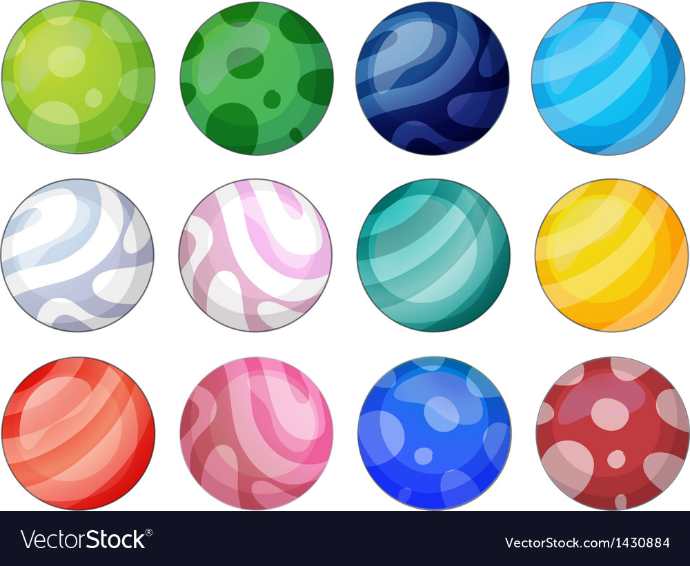 Colorful balls vector | Price: 1 Credit (USD $1)