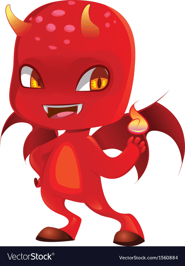 Cute scary devil vector | Price: 1 Credit (USD $1)