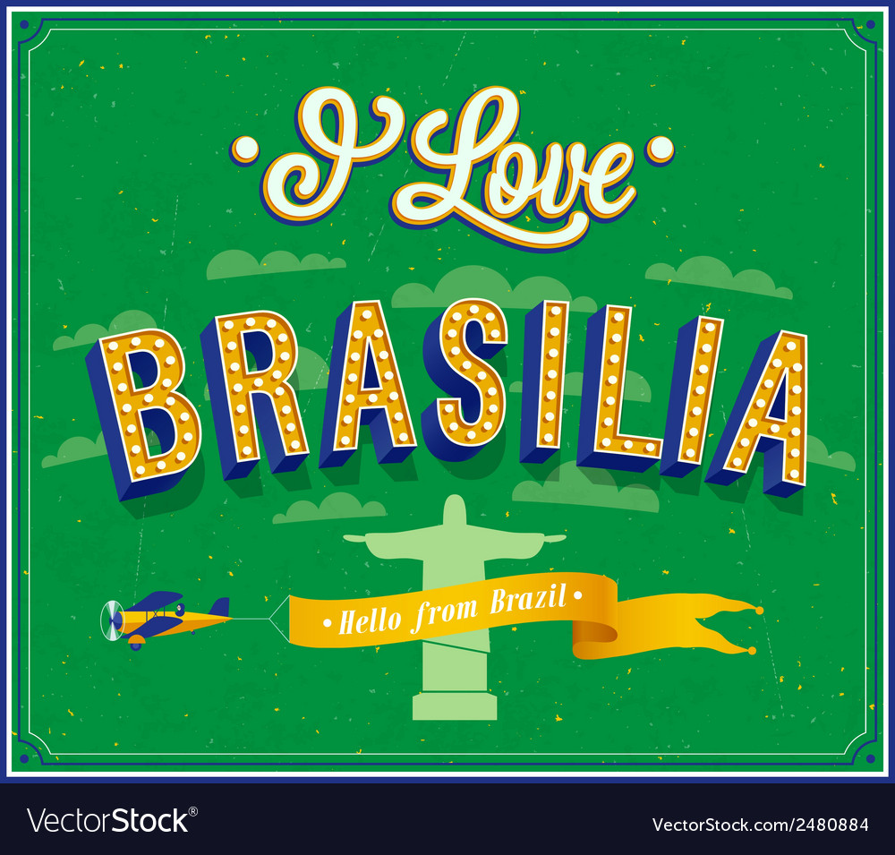 I love brasilia vector | Price: 1 Credit (USD $1)