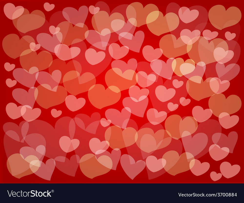 Little hearts make a beautiful red background vector | Price: 1 Credit (USD $1)