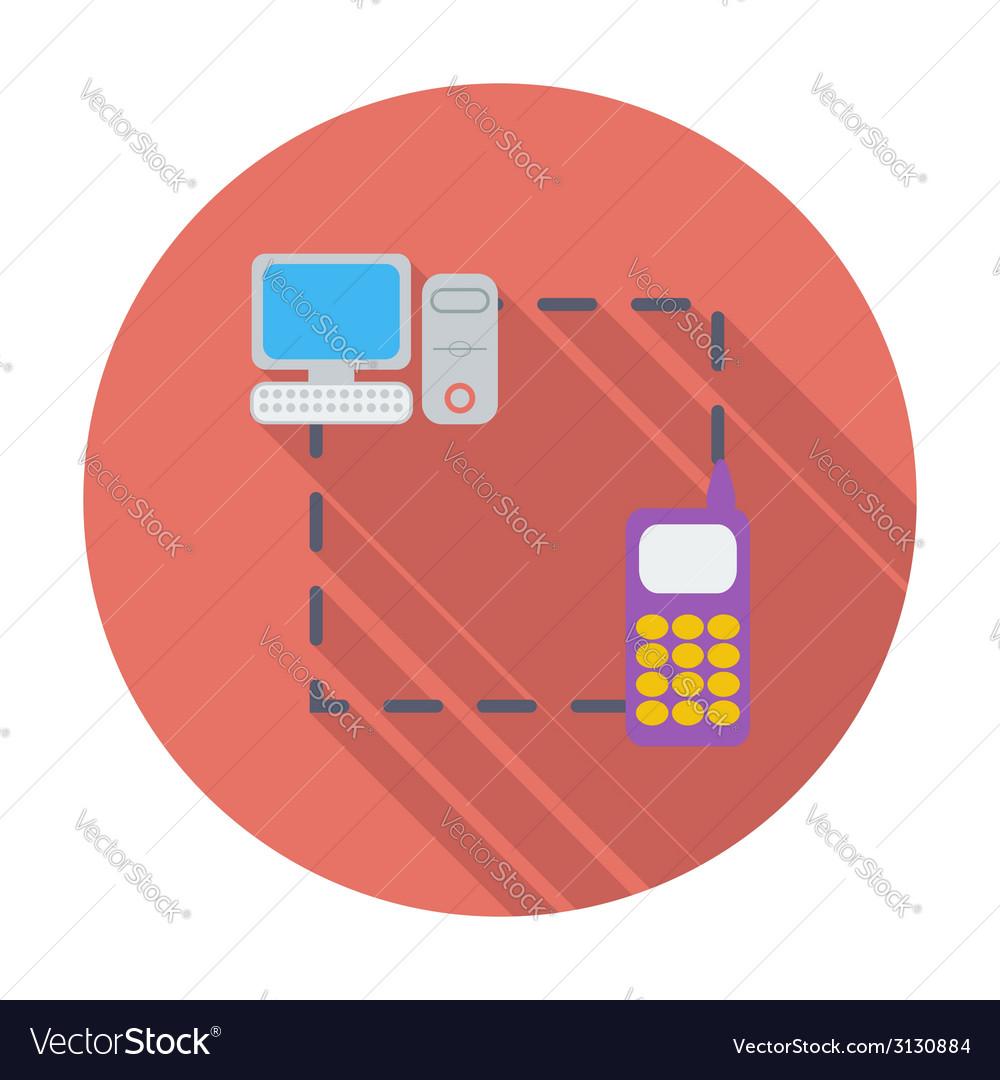 Phone sync single flat icon vector   Price: 1 Credit (USD $1)