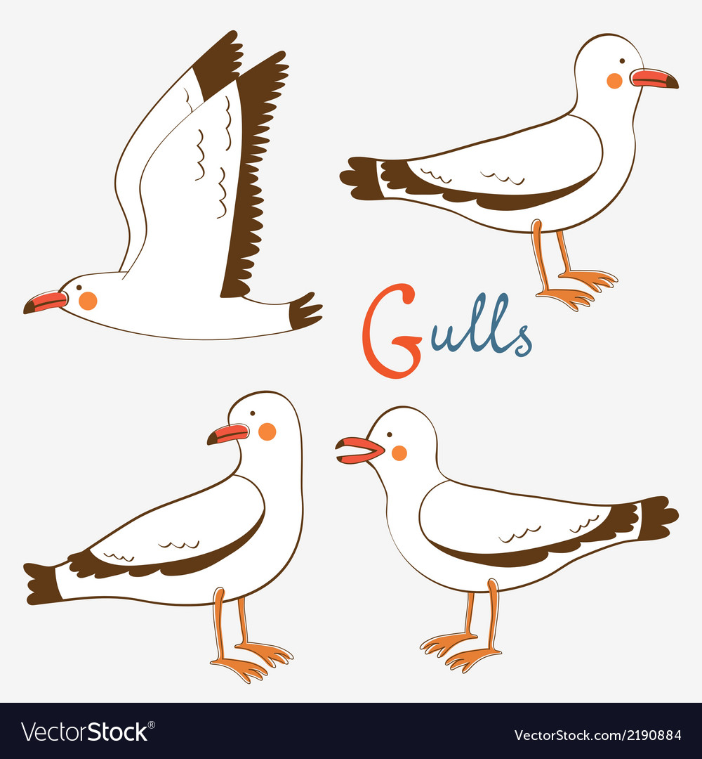 Seagulls collection vector | Price: 1 Credit (USD $1)