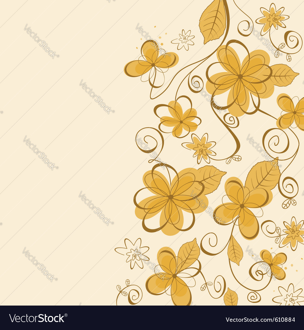 Summer flowers vector | Price: 1 Credit (USD $1)