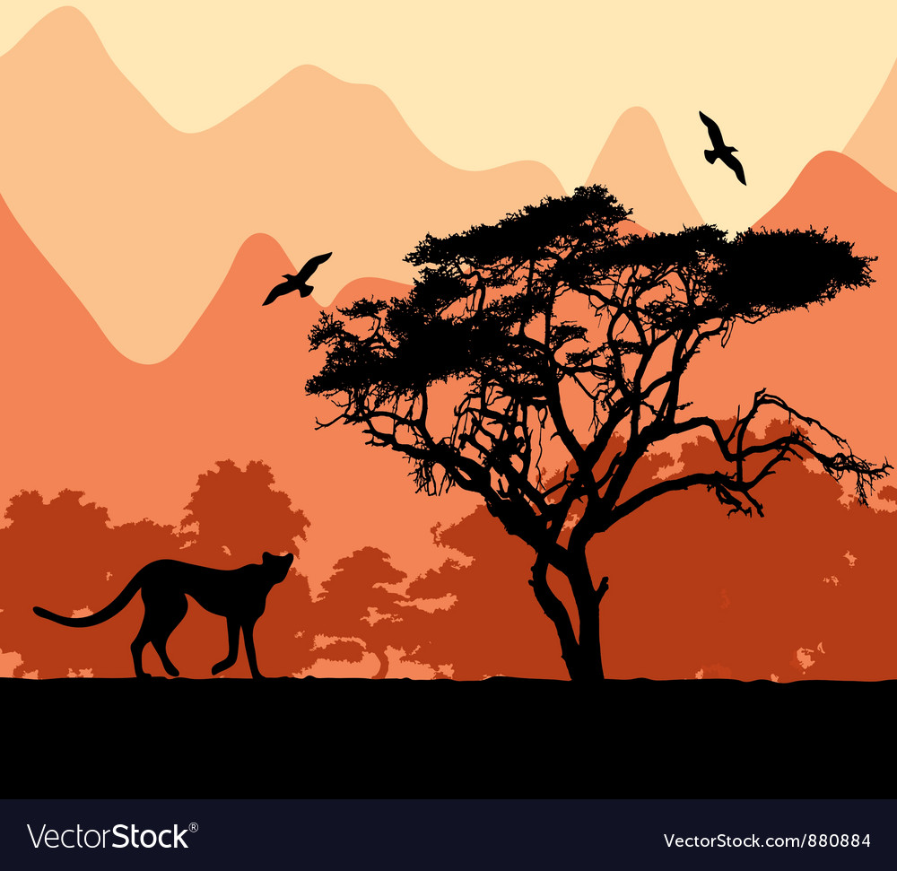 Wild african animals vector | Price: 1 Credit (USD $1)