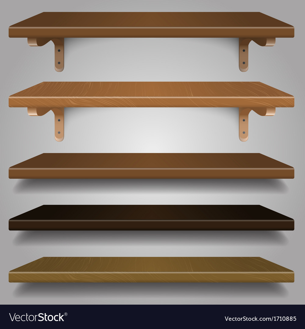 - wood shelves vector | Price: 1 Credit (USD $1)