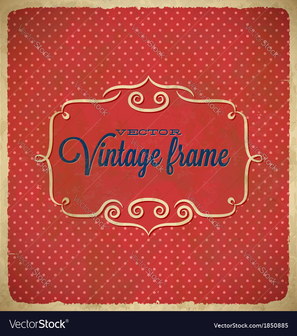 Aged vintage polka dot frame vector | Price: 1 Credit (USD $1)
