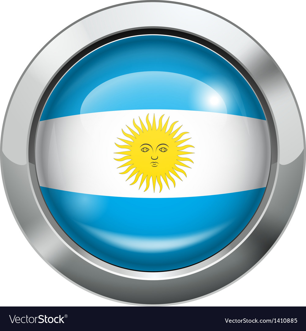 Argentina flag metal button vector | Price: 1 Credit (USD $1)