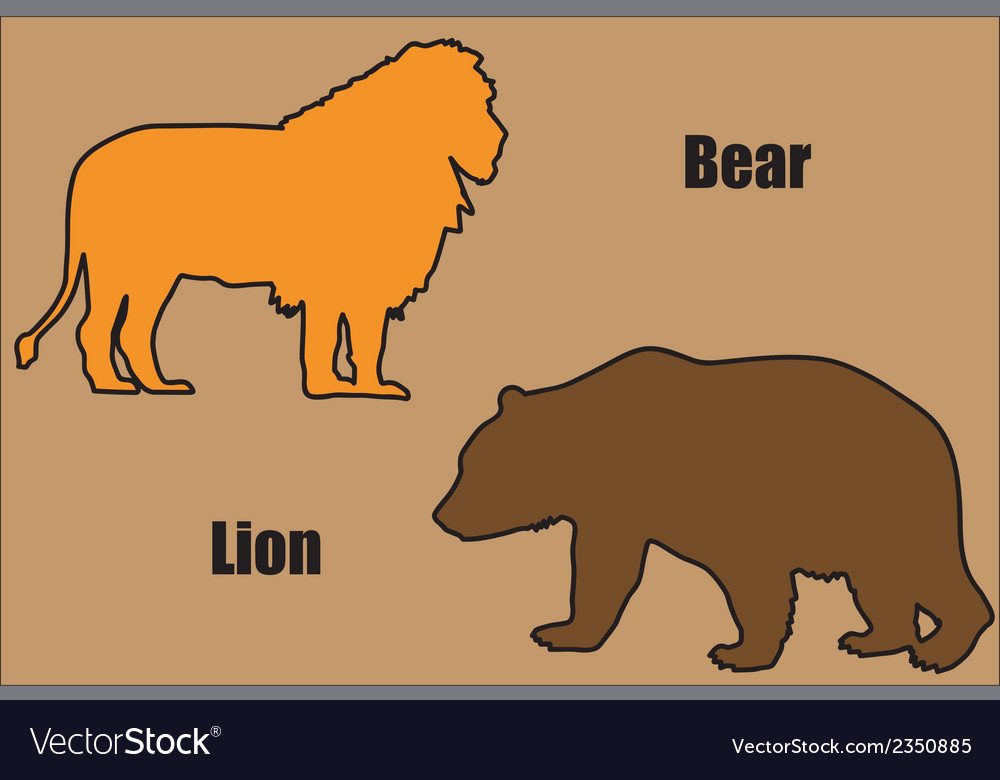 Bear and lion vector | Price: 1 Credit (USD $1)