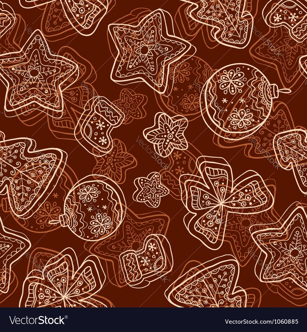 Christmas dark chocolate seamless pattern vector | Price: 1 Credit (USD $1)