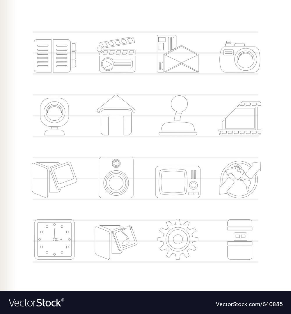 Computer and mobile phone icons vector   Price: 1 Credit (USD $1)