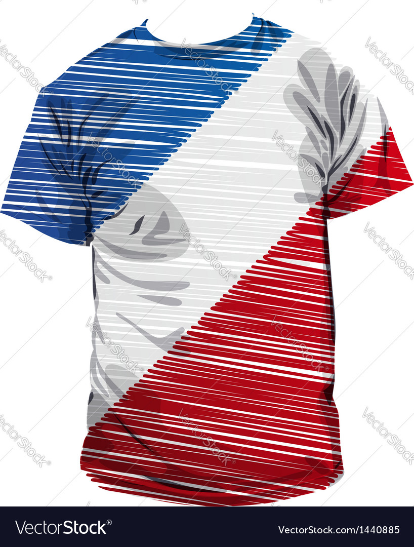 French tee vector | Price: 1 Credit (USD $1)