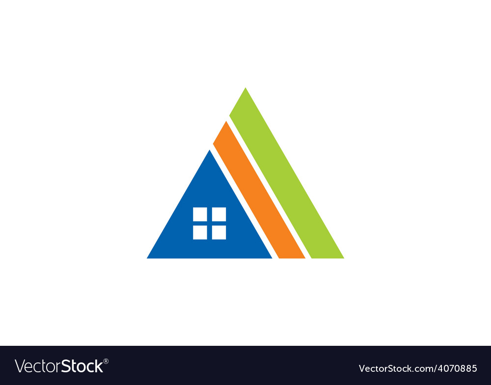 House triangle construction abstract logo vector | Price: 1 Credit (USD $1)