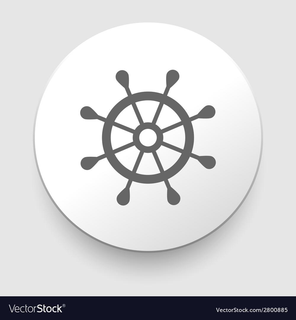 Rudder icon vector | Price: 1 Credit (USD $1)