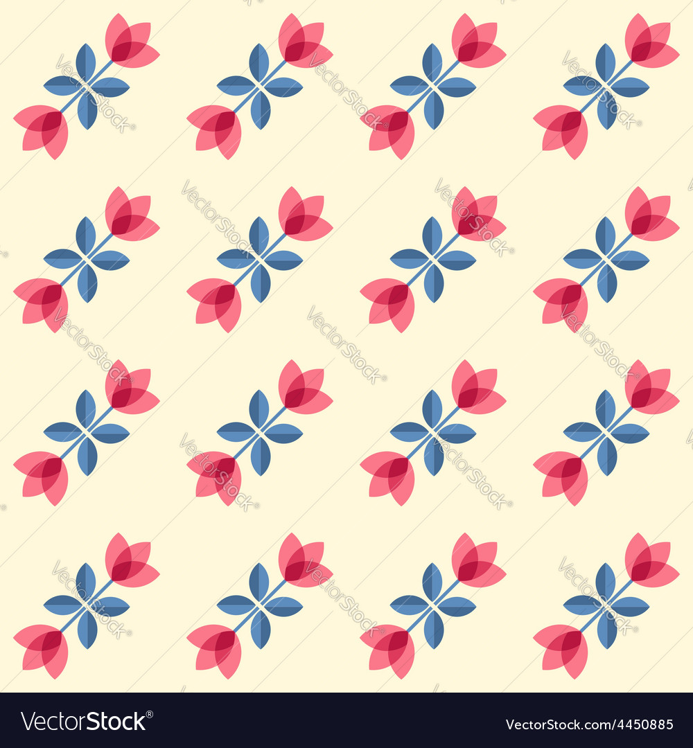 Scandinavian flowers  semaless tulips pattern vector