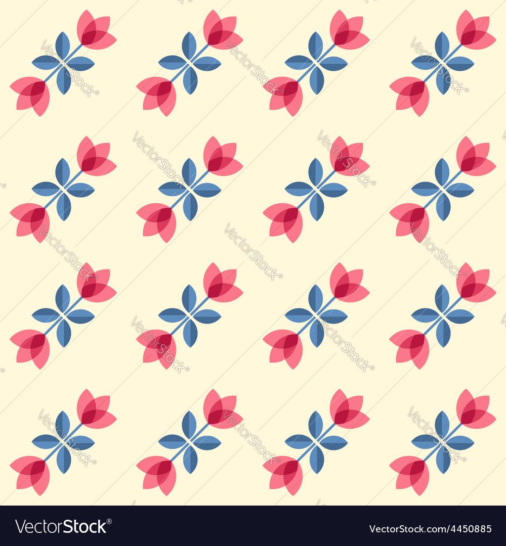 Scandinavian flowers - semaless tulips pattern vector | Price: 1 Credit (USD $1)