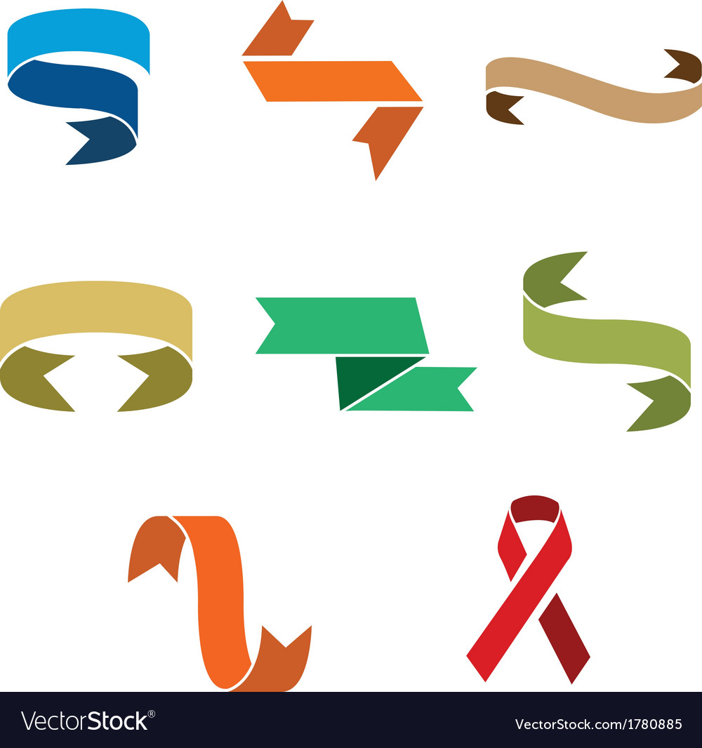 Set of decorative ribbons vector | Price: 1 Credit (USD $1)