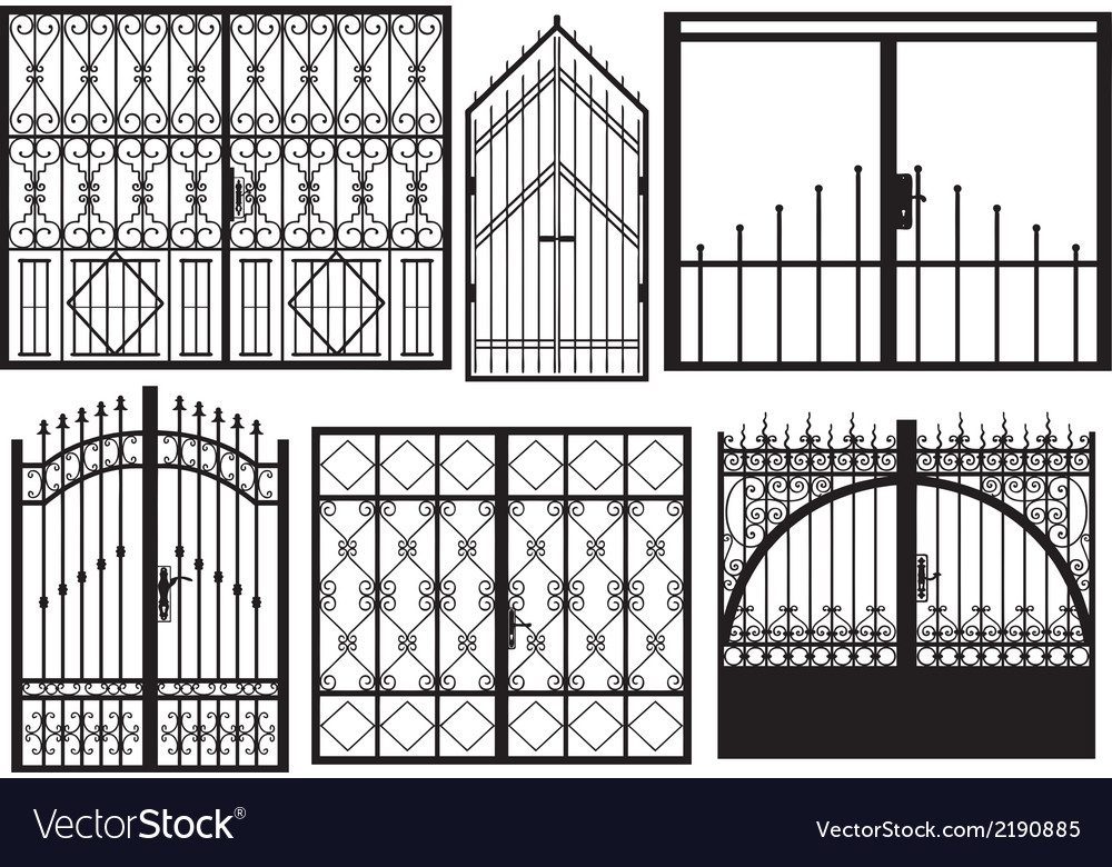 Set of different gates vector | Price: 1 Credit (USD $1)