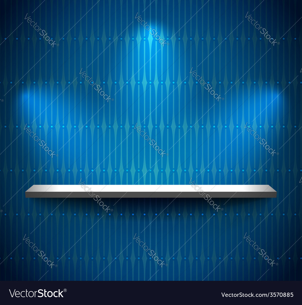 Shelf in a blue room vector | Price: 1 Credit (USD $1)