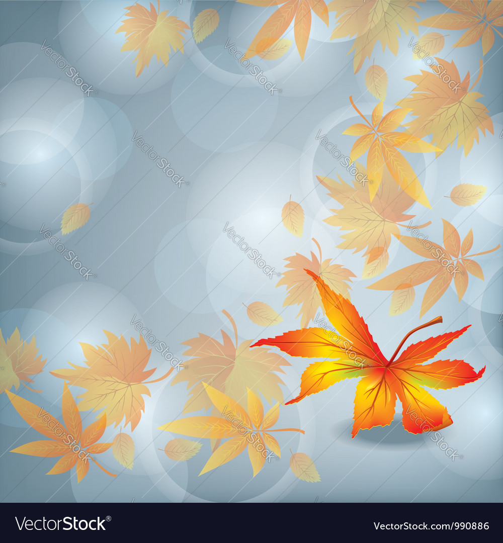 Autumn leaf fall nature background vector | Price: 1 Credit (USD $1)