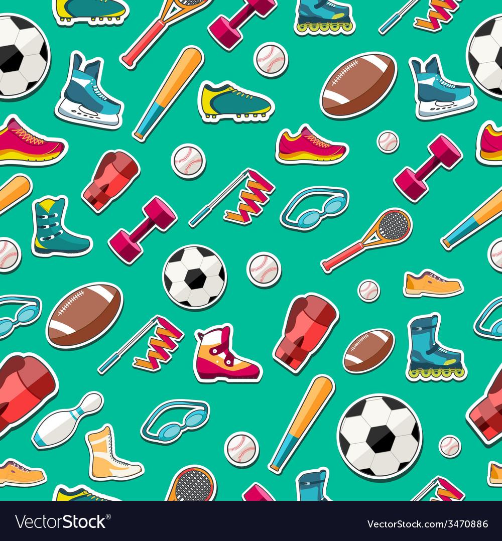 Circular concept of sports equipment sticker vector | Price: 1 Credit (USD $1)