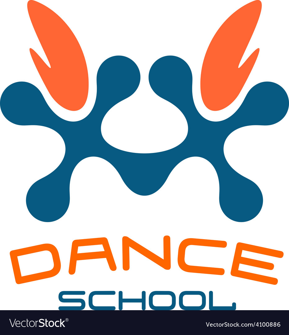 Dance school logo template modern style vector | Price: 1 Credit (USD $1)
