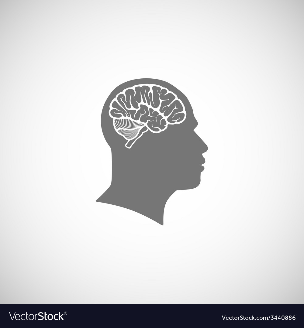 Human head with brain vector | Price: 1 Credit (USD $1)
