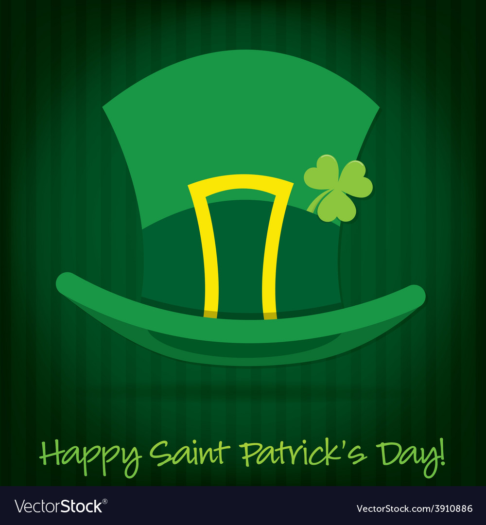 Leprechauns hat st patricks day card in format vector | Price: 1 Credit (USD $1)