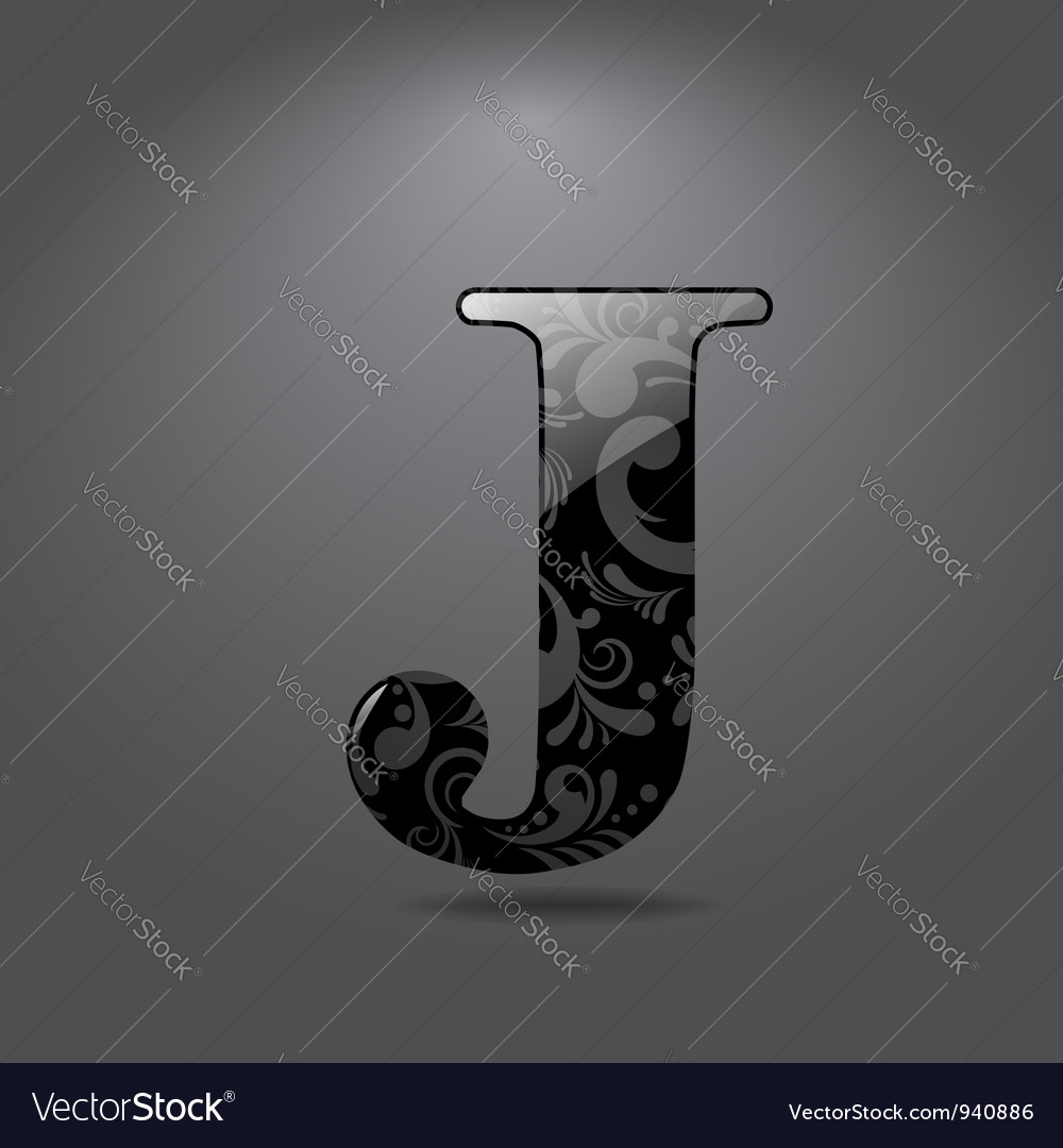 Letter j vector | Price: 1 Credit (USD $1)