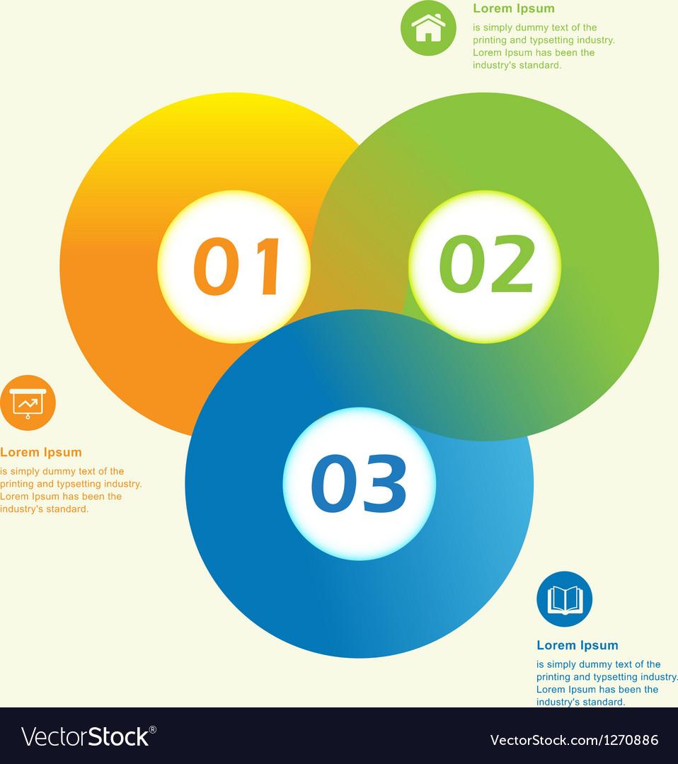 Modern circle infographic design template vector | Price: 1 Credit (USD $1)