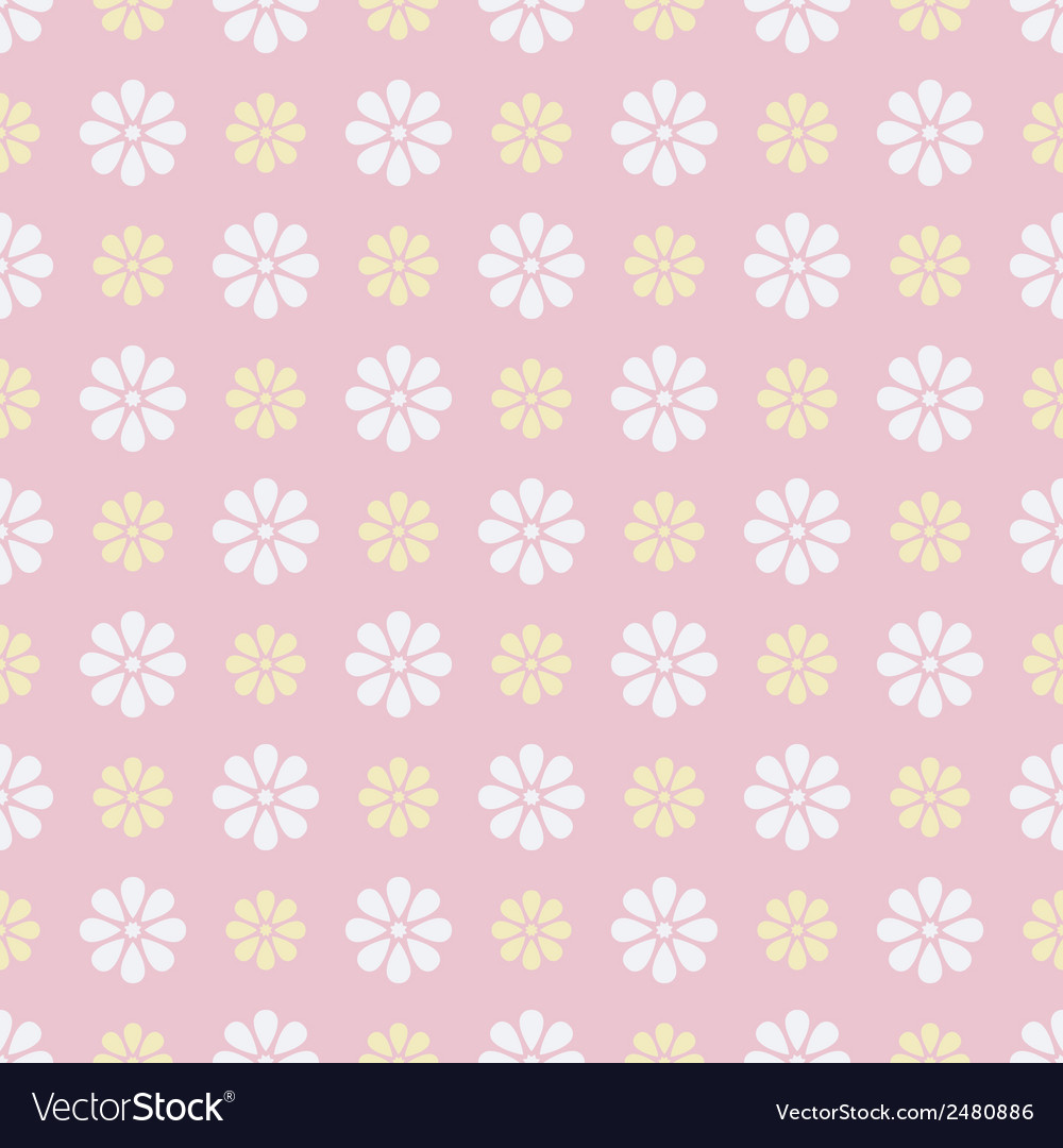 Nice seamless pattern tiling sweet pink white vector | Price: 1 Credit (USD $1)