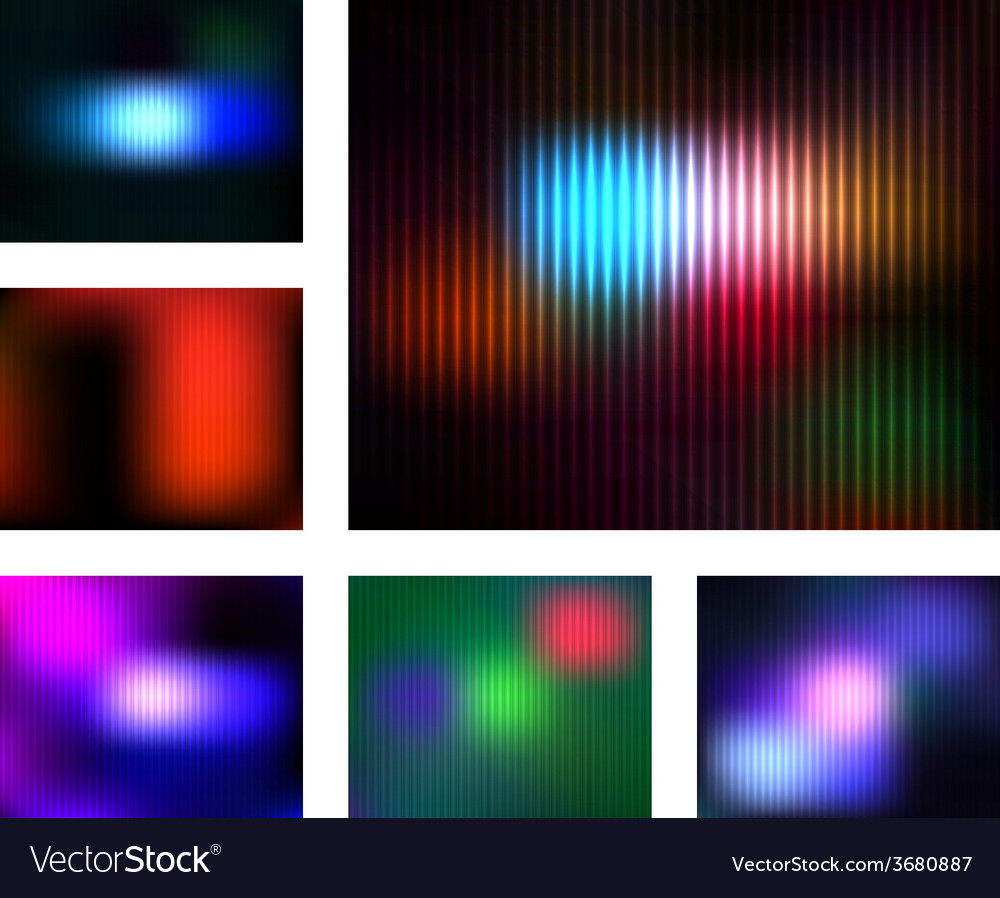 Abstract shiny trendy backgrounds set vector | Price: 1 Credit (USD $1)