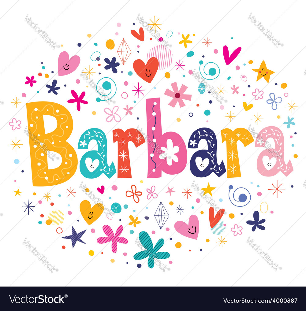 Barbara name design vector | Price: 1 Credit (USD $1)
