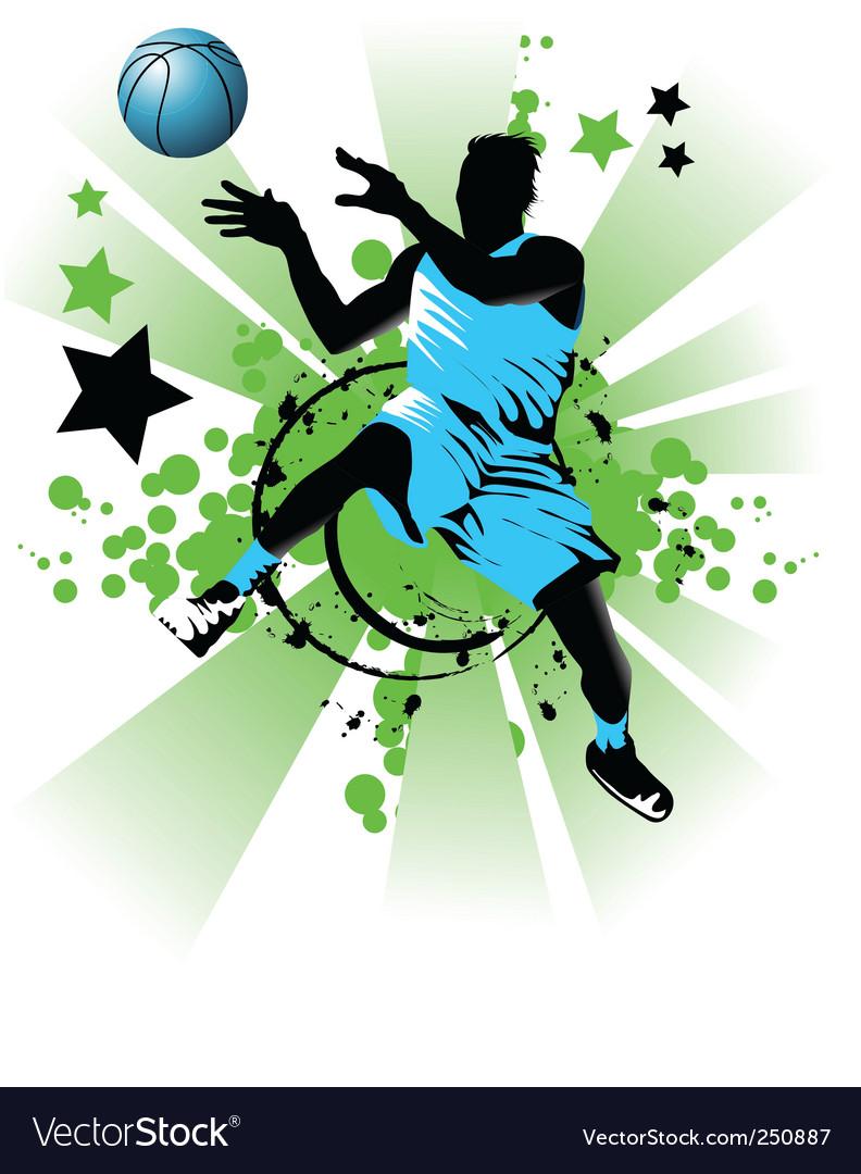 Basket ball star vector | Price: 1 Credit (USD $1)