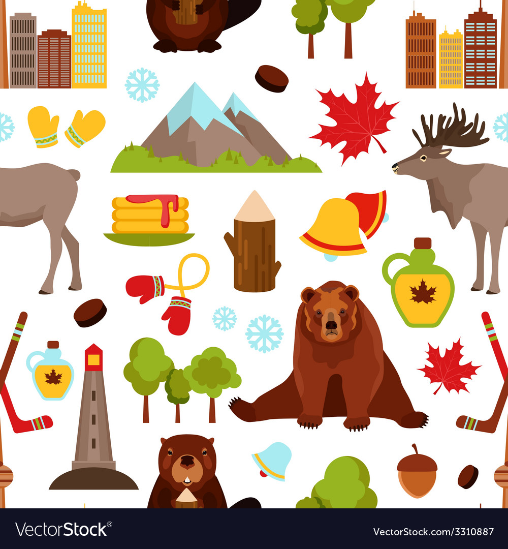 Canada seamless pattern vector | Price: 1 Credit (USD $1)